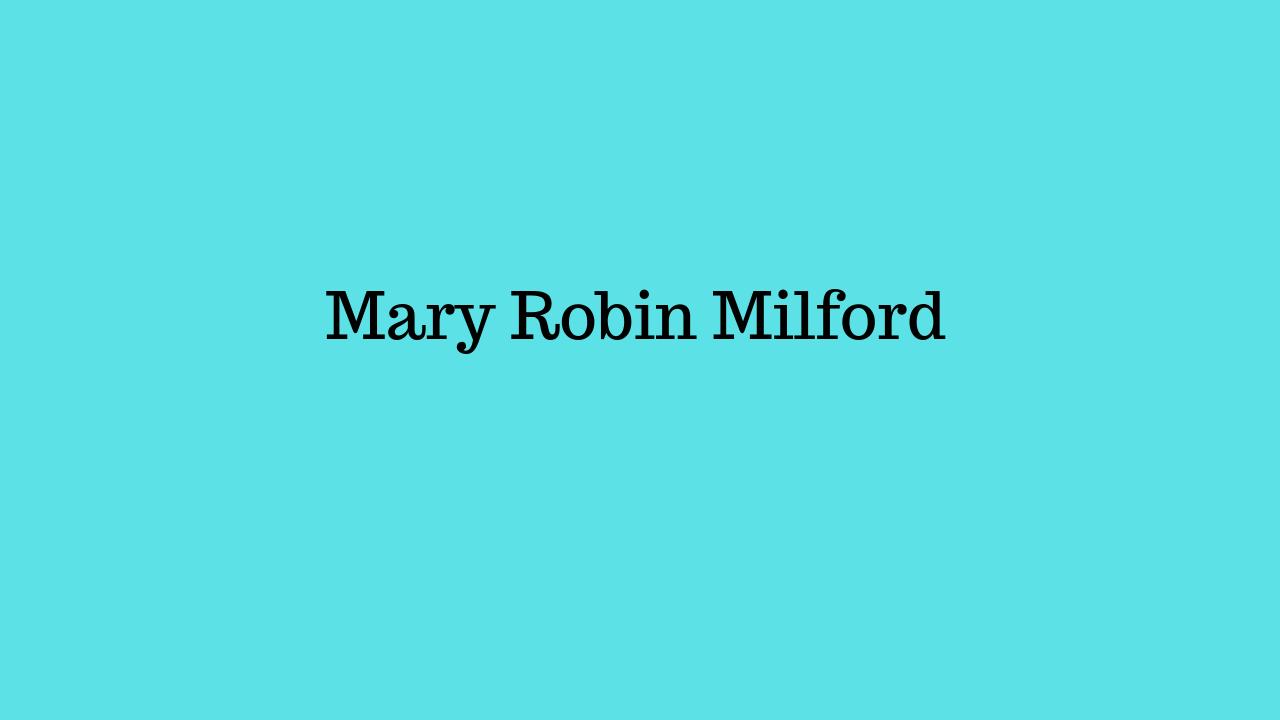 Platinum Sponsor - Mary Robin Milford